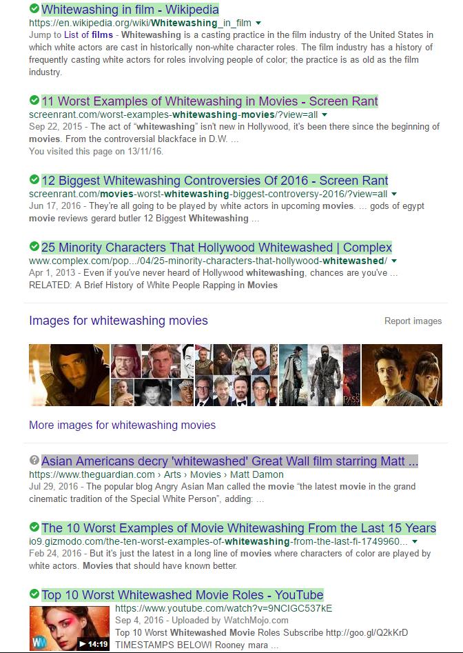 Whitewashing Movies